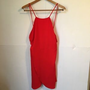 June and Hudson red backless dress